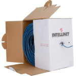 Cable Bobina Intellinet Cat 5e UTP 305Metros Color Azul 362344