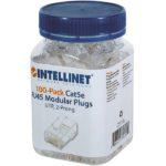 Plug Bote 100 Piezas Conector RJ45 Intellinet Cable UTP Cat 5E 790055