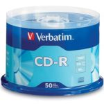 Torre CD-R Verbatim Virgen 52x 700MB 80Min 50 Pack