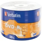 Torre DVD-R Verbatim Virgen 16x 4.7 GB 50 Pack