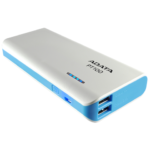 Bateria Portatil USB Adata PT100 Power Bank Cargador 10000mAh Blanco/Azul
