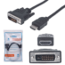 Cable HDMI A DVI Manhattan 1.8 Mts 372503