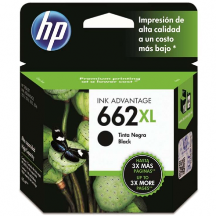 Cartucho HP Num 662XL Negro 6.5ML CZ105AL