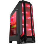 Gabinete Eagle Warrior Robot Q Gaming 3 Ventiladores USB 3.0 Led Rojo