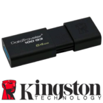 Memoria Flash USB 3.0 Kingston 64 GB Negra (DT100G3/64GB)