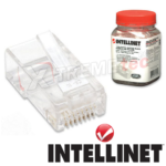 Plug Conector RJ45 Intellinet Para Cable UTP Cat 5E