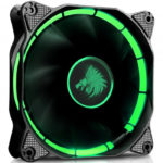Ventilador Eagle Warrior 120mm HALO Tubo LED Verde ACLEDFANHALO3EGW