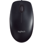 Mouse Logitech Alambrico Optico USB Negro M90 910-004053