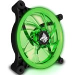 Ventilador Eagle Warrior 120mm Aurora LED Verde Retroiluminado ACLFAURORA03EGW