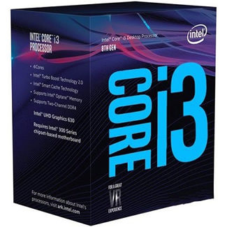 Procesador Intel Core i3 8100 3.6 GHz Quad Core