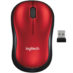 Mouse Logitech Inalambrico Optico USB Rojo M185 910-003635
