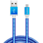 Cable USB A Micro-USB B Adata Azul Android Windows 1 Metro AMUCAL-100CMK-CBL