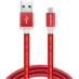 Cable USB A Micro-USB B Adata Rojo Android Windows 1 Metro AMUCAL-100CMK-CRD