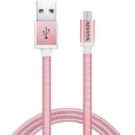 Cable USB A Micro-USB B Adata Rosa Android Windows 1 Metro AMUCAL-100CMK-CRG