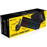 Kit Teclado Mouse Diadema y MousePad Corsair Essential Gaming Bundle 4 En 1 CH-9206215-NA