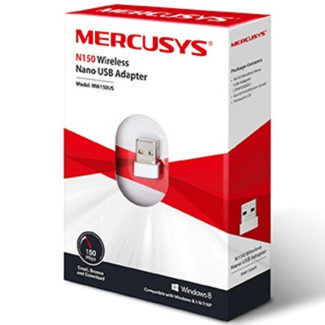 Adaptador Nano De Red USB Mercusys Inalambrico N150 MW150US