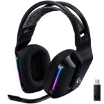 Diadema Logitech G733 LIGHTSPEED RGB Gaming Headset USB Wireless Inalambricos Negro 981-000863