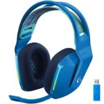 Diadema Logitech G733 LIGHTSPEED RGB Gaming Headset USB Wireless Inalambricos Azul 981-000942